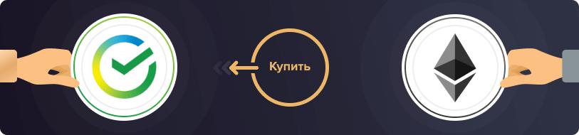 Купить Ethereum за рубли в Сбербанке